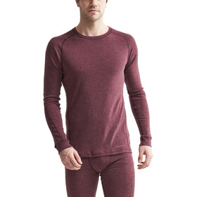 Craft Merino 180 Baselayer Set Herren rhubarb melange